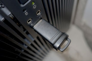 USB flash drive plugged into a computer